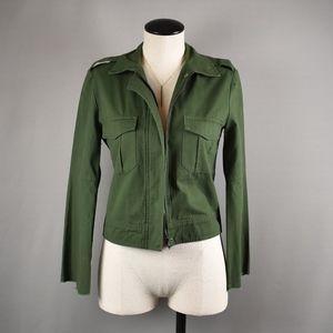 (BB Dakota) Jennie Olive Green Cropped Jacket
